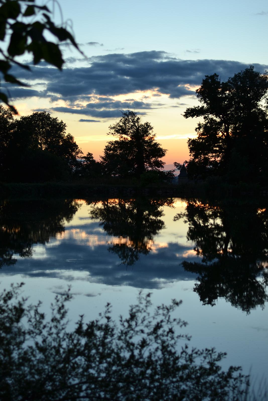 Coucher de soleil lac-Camping Le Muret