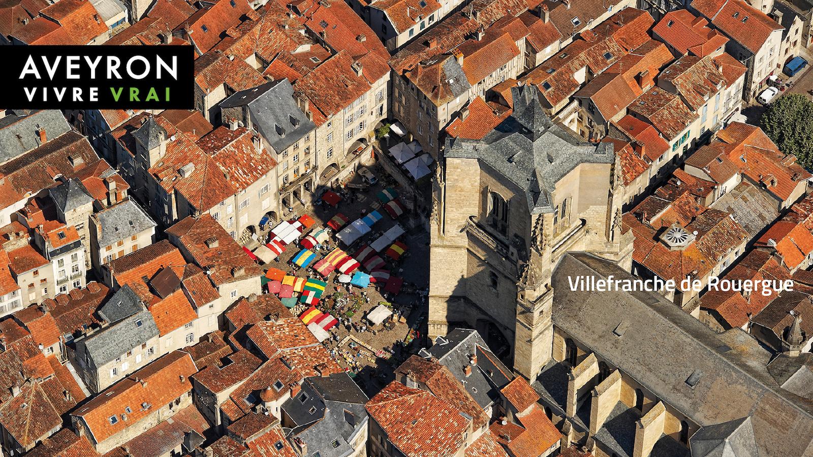 Villefranche vue du ciel-Camping Le Muret