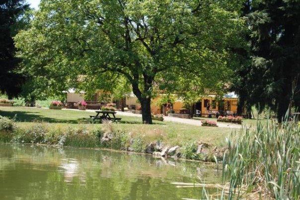 restaurant vu du lac-Camping Le Muret